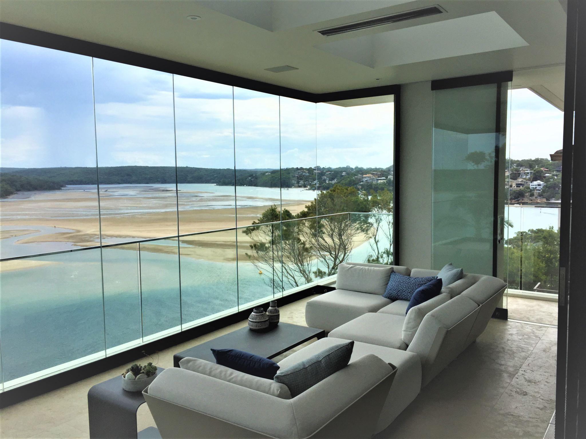 Frameless Glass Walls   Residential - Murano Glass ...